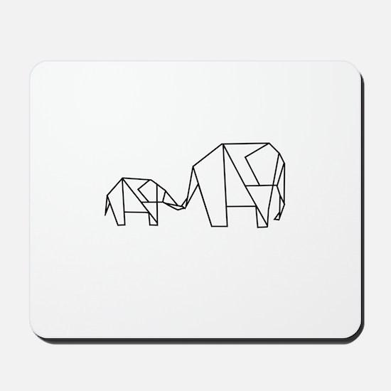 Origami Elephant Mousepad