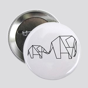 "Origami Elephant 2.25"" Button"