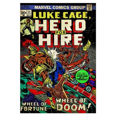 Luke Cage, Hero For Hire (Wheel Of Fortune... Whee Canvas Art