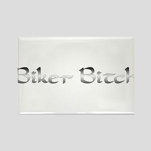 Biker Bitch Rectangle Magnet
