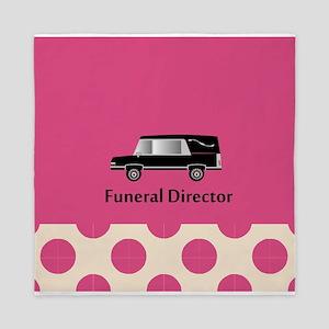 funeral director pink Queen Duvet