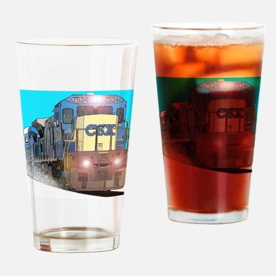 CSX Train Drinking Glass