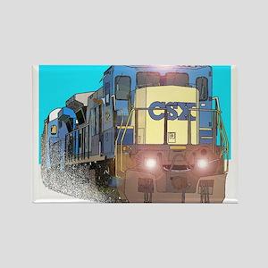 CSX Train Rectangle Magnet