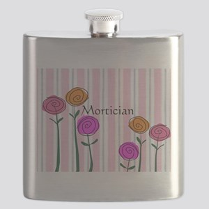 Mortician floral roses Flask