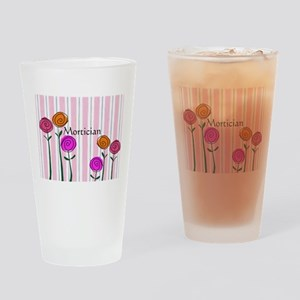 Mortician floral roses Drinking Glass
