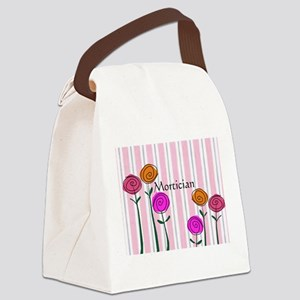 Mortician floral roses Canvas Lunch Bag