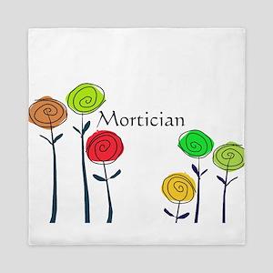 mortician floral roses 2 Queen Duvet