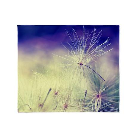 Dandelion Seeds Throw Blanket