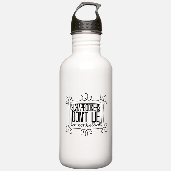 Scrapbookers Embellish Water Bottle