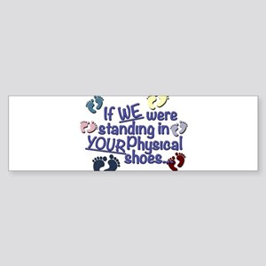 Physical Shoes Baby Bumper Sticker