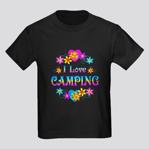 I Love Camping Kids Dark T-Shirt