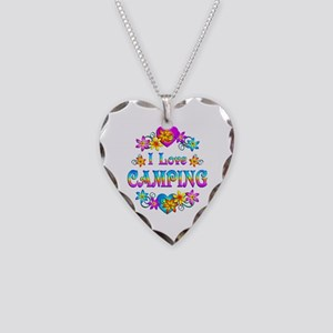 I Love Camping Necklace Heart Charm
