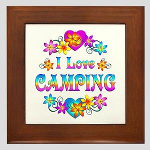 I Love Camping Framed Tile