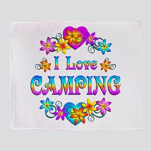I Love Camping Throw Blanket