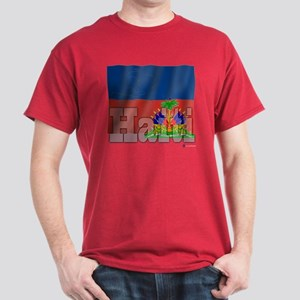 Silky Flag Haiti  Dark T-Shirt