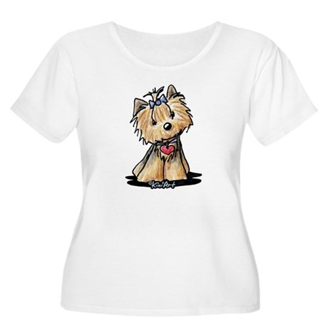 Tiny Heart Yorkie Women's Plus Size Scoop Neck T-S