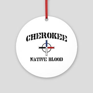 Cherokee Ornament (Round)
