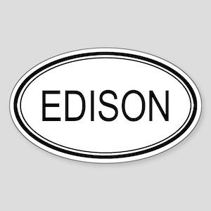 Edison Oval Design Oval Sticker