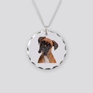 Boxer Necklace Circle Charm