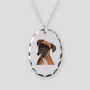 Boxer Necklace Oval Charm