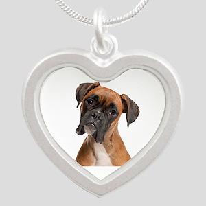 Boxer Silver Heart Necklace