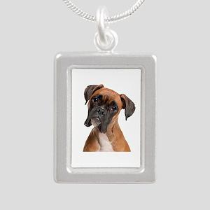 Boxer Silver Portrait Necklace