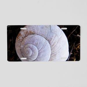 Lightgrey snailshell Aluminum License Plate