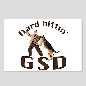german shepherd schutzhund Postcards (Package of 8