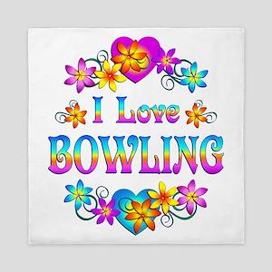 I Love Bowling Queen Duvet