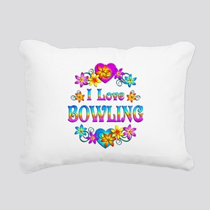 I Love Bowling Rectangular Canvas Pillow