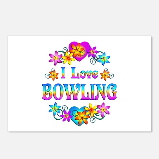 I Love Bowling Postcards (Package of 8)