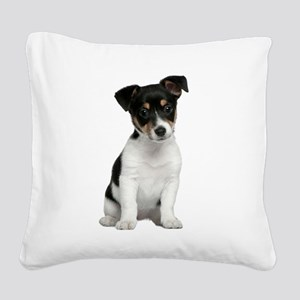 Jack Russell Terrier Square Canvas Pillow