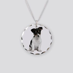Jack Russell Terrier Necklace Circle Charm