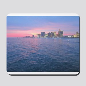 sunset on the water Mousepad