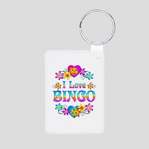 I Love Bingo Aluminum Photo Keychain