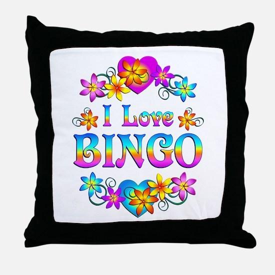 I Love Bingo Throw Pillow