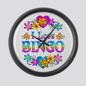 I Love Bingo Large Wall Clock