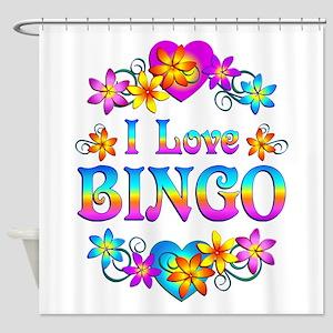 I Love Bingo Shower Curtain