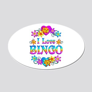 I Love Bingo 20x12 Oval Wall Decal