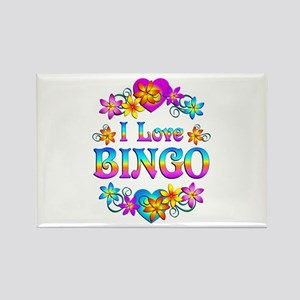 I Love Bingo Rectangle Magnet