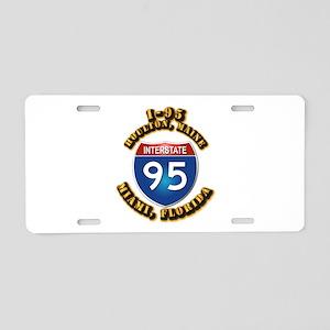 Interstate - 95 Aluminum License Plate