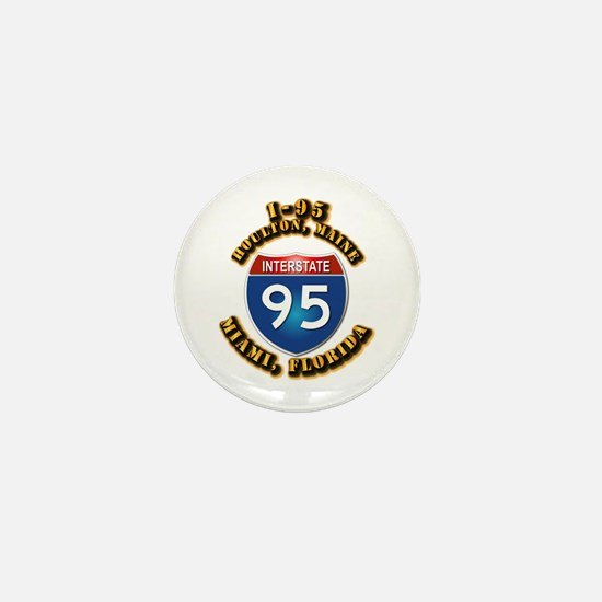 Interstate - 95 Mini Button