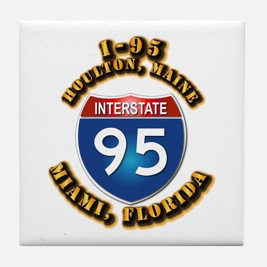 Interstate - 95 Tile Coaster