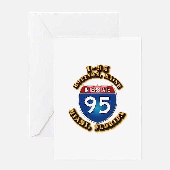Interstate - 95 Greeting Card