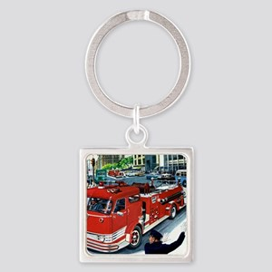 AT THE SCENE Square Keychain