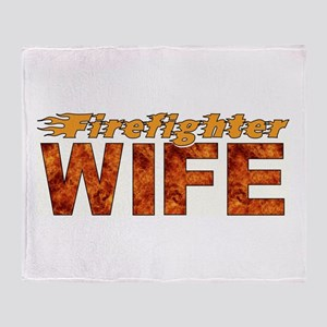 Firefighter Wife Throw Blanket