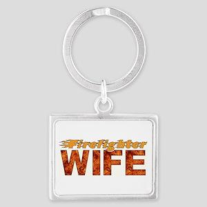 Firefighter Wife Landscape Keychain