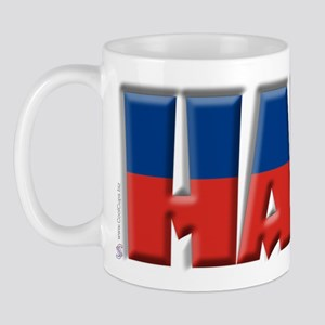 Word Art Flag Haiti Mug