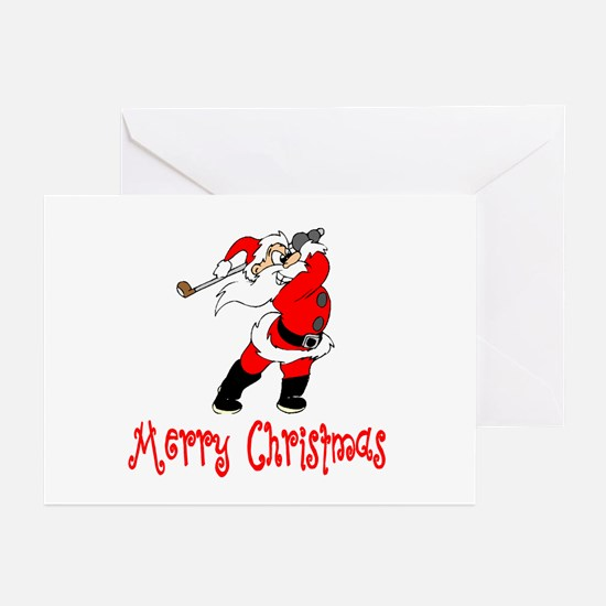 Christmas Golf Greeting Cards CafePress - Golf christmas cards