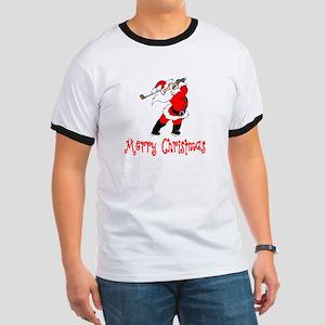GolfChick Merry Christmas Ringer T